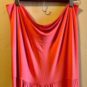 Fashion to Figure 3X Orange Maxi dress or skirtNWT